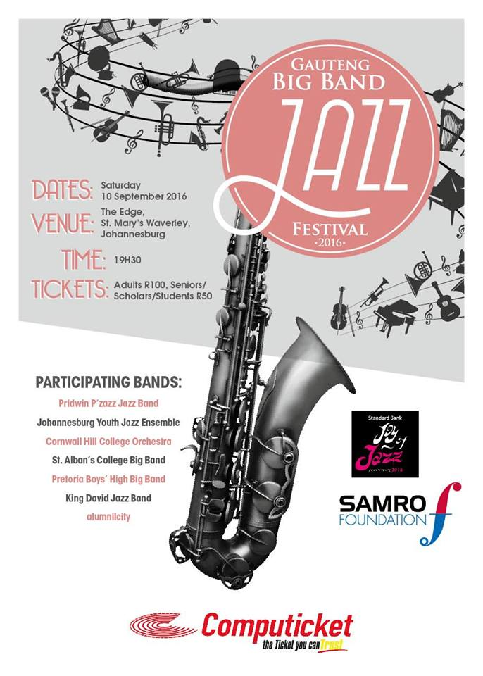 alumni|city – the A-Team will be playing at the Gauteng Big Band Jazz Festival