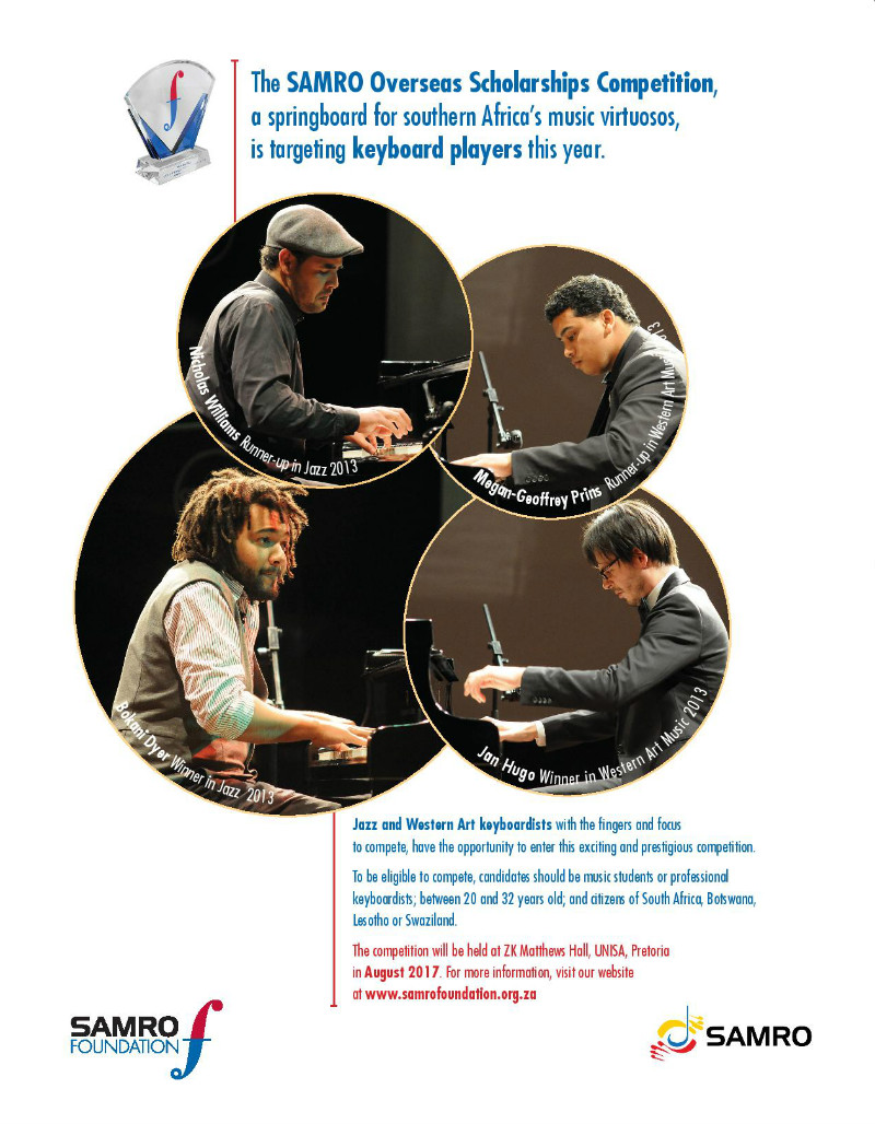 2017 SAMRO Overseas Scholarships Competition for Keyboard Players